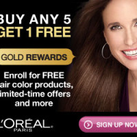 Buy 5 L'Oreal Hair Color Products, Get 1 Free!