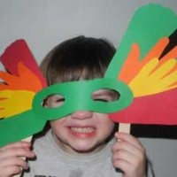 Kids Frugal Craft: Hand & Foot Print Mardi Gras Mask