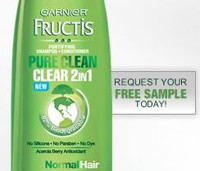 Order a Free Sample of Garnier Fructis Pure Clean Clear 2in1 (Facebook)
