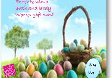 Giveaway: $60 Gift Card to Bath & Body Works *Ends 3/21*