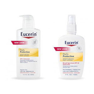 The free sample is for Eucerin Daily Replenishing Moisturizing Body Lotion.