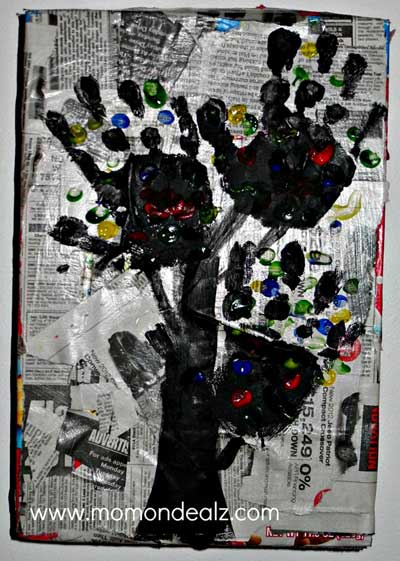 Kids Frugal Craft Newspaper Art