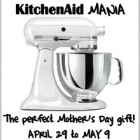 Giveaway: KitchenAid Artisan 5-Quart Stand Mixer *Ends 5/9*