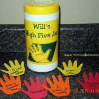 Kids Frugal Craft: High Five Reward Jar