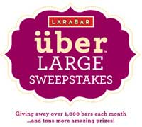 Enter to Win the LARABAR uber Large Sweepstakes