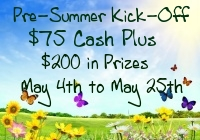 Giveaway: $75 Cash + $200 in Prizes for Summer *Ends 5/25*
