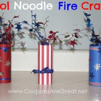 4th of July Decorations: Pool Noodle Fire Cracker Craft
