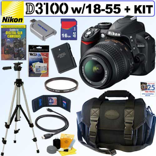 Giveaway: Nikon D3100 14.2MP Digital SLR Camera + Deluxe Accessory Kit *Ends 7/11*