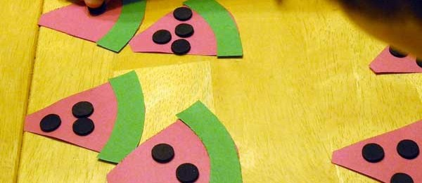 Crafts for Kids: Watermelon Math Fun