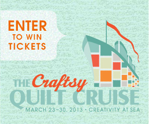 Enter to win the Craftsy Quilt Cruise Giveaway *Ends 12/31*