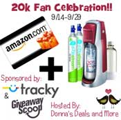 Group Giveaway: $200 Amazon Gift Card + SodaStream *Ends 9/29*
