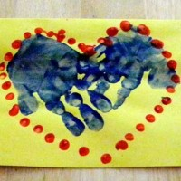 Crafts for Kids: Grandparents Day Hand and Finger Paint Cards