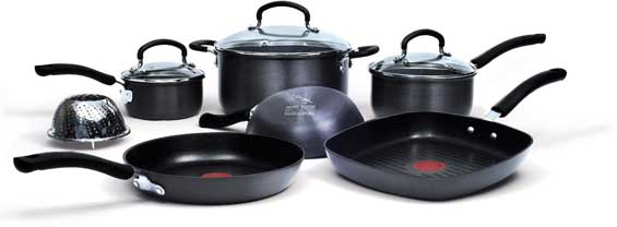*Today Only* Jamie Oliver by T-fal Nonstick Hard Anodized 10-Piece Cookware Set $59.99
