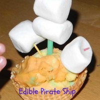 Crafts for Kids: Edible Pirate Ship and DIY Pirate Hook