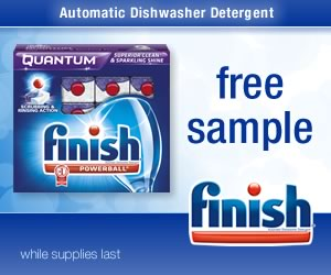 Free Sample of Finish Quantum Dishwasher Detergent