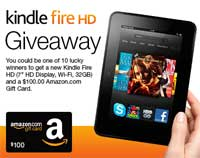 Enter to Win the Kindle Fire HD Sweepstakes *Ends 11/4*
