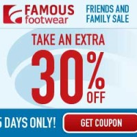 30% off In-Store and Online with Famous Footwear Coupon