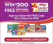 Earn Free Rewards at Kellogg's Family Rewards!