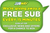 Enter to Win the Subway Text to Win Sweepstakes *Ends 10/31*