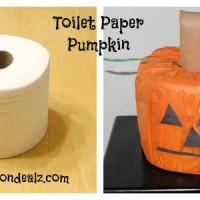 Halloween Crafts for Kids: Toilet Paper Pumpkin