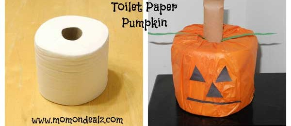 Halloween Crafts for Kids: Toilet Paper Pumpkin