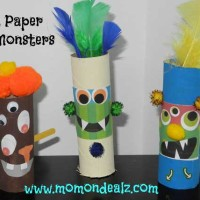 Halloween Crafts for Kids: Toilet Paper Roll Monsters