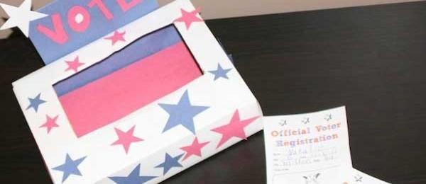 Crafts for Kids: Voter Registration Card Kids Election Day Craft