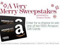 Enter to Win the Amazon Very Merry Sweepstakes (Facebook) *Ends 11/30*