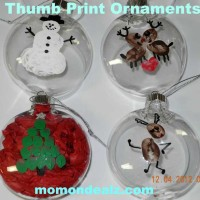 Christmas Crafts for Kids: Thumb Print Christmas Ornaments