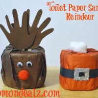 Christmas Crafts for Kids: Toilet Paper Santa and Reindeer