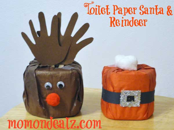 Christmas-Crafts-for-Kids-Toilet-Paper-Santa-and-Reindeer