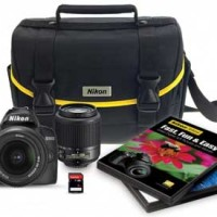 Nikon D3000 DSLR Camera 6 Piece Bundle with 2 Lenses only $429.95 (46% off!)