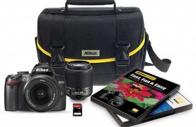 Nikon D3000 DSLR Camera 6 Piece Bundle with 2 Lenses only $429.95 (46% off!)