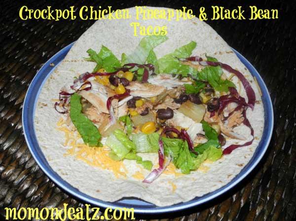 Slow-Cooker-Recipe-Chicken-Pineapple-Black-Bean-Tacos