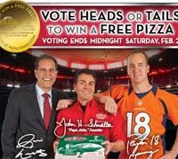 Papa Johns Free Pizza Super Bowl Promo *Ends 2/2*