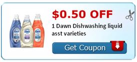 Dawn Dish Liquid as low as $.50 at Walgreens starting 3/24