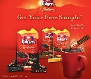 Free Sample of Folgers Fresh Breaks (Facebook)