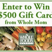 $500 Whole Foods Giftcard Sweepstakes