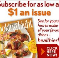 Cooking Light Magazine 6 Months for $6