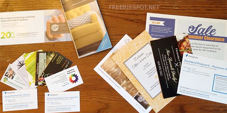 vistaprint free sample kit