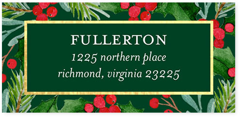 shutterfly address label sample