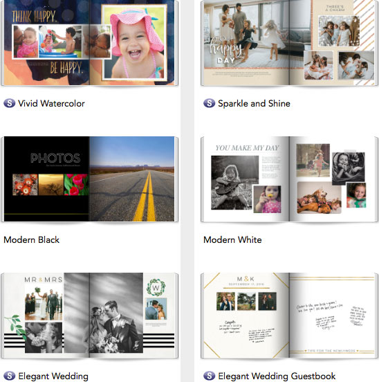 sample shutterfly 8x8 book designs