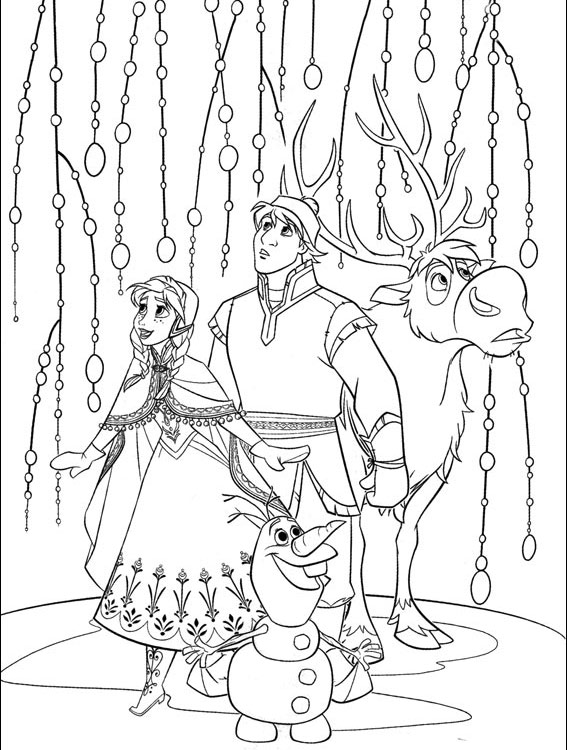 Some Of My Favorite Frozen Coloring Book Pages To Color In