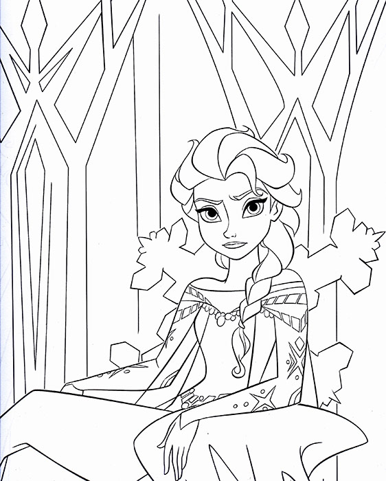 Frozen Elsa Coloring Pages Titlermedicin Website