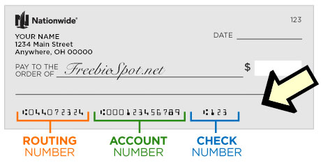 where is check routing number