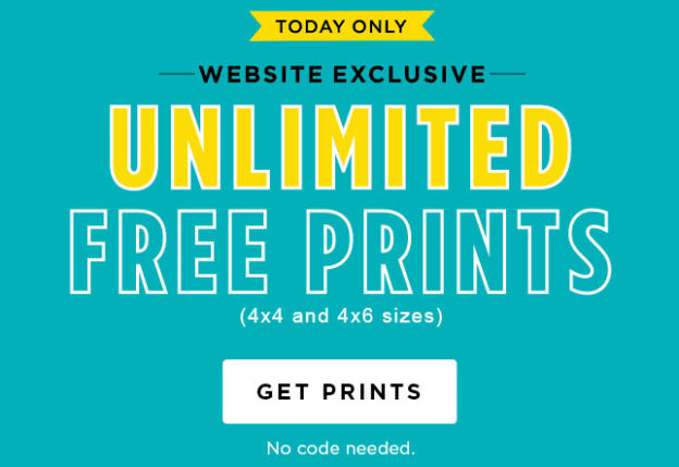 shutterfly unlimited free prints today 4x4 or 4x6