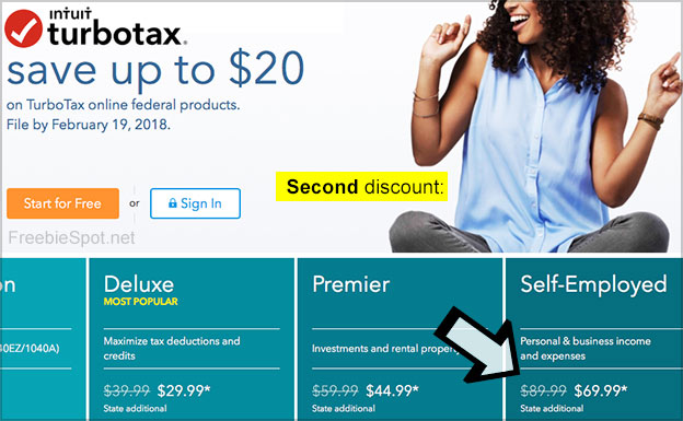 second discount turbotax