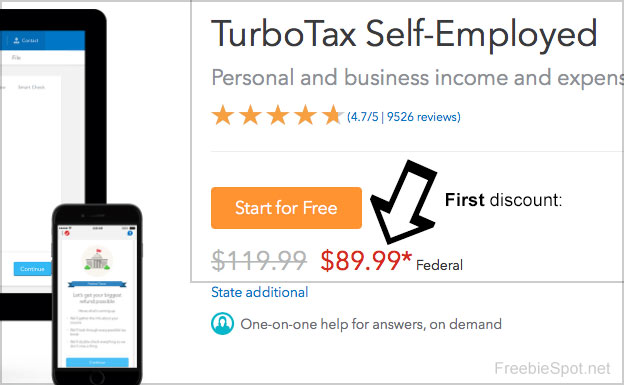turbotax first discount code