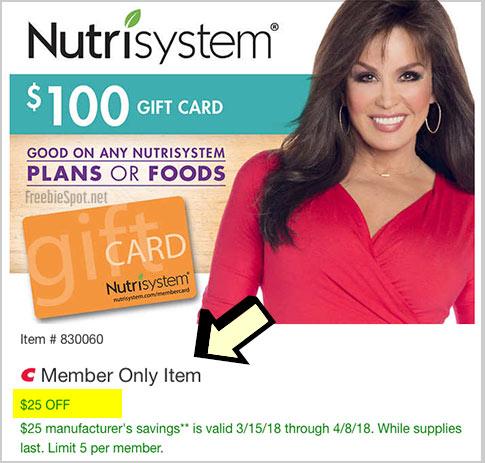 nutrisystem costco promo code