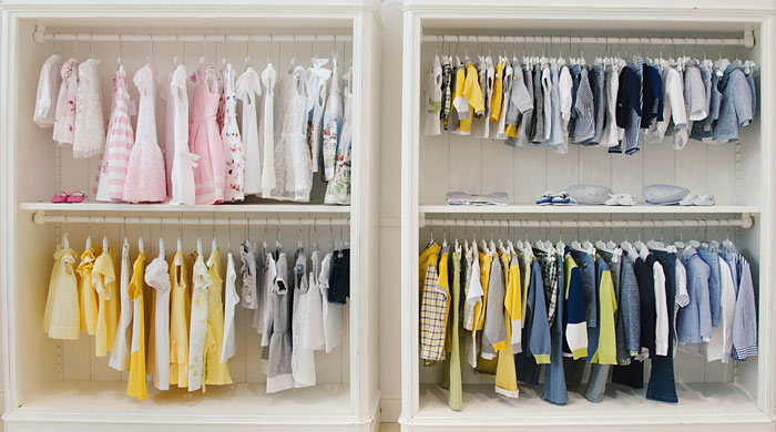 childrens clothes closet